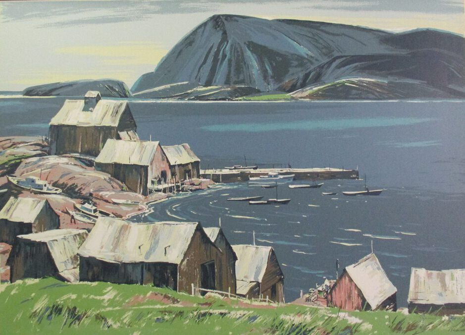 Cape Breton Harbour by JS Hallam at ArtFINDca