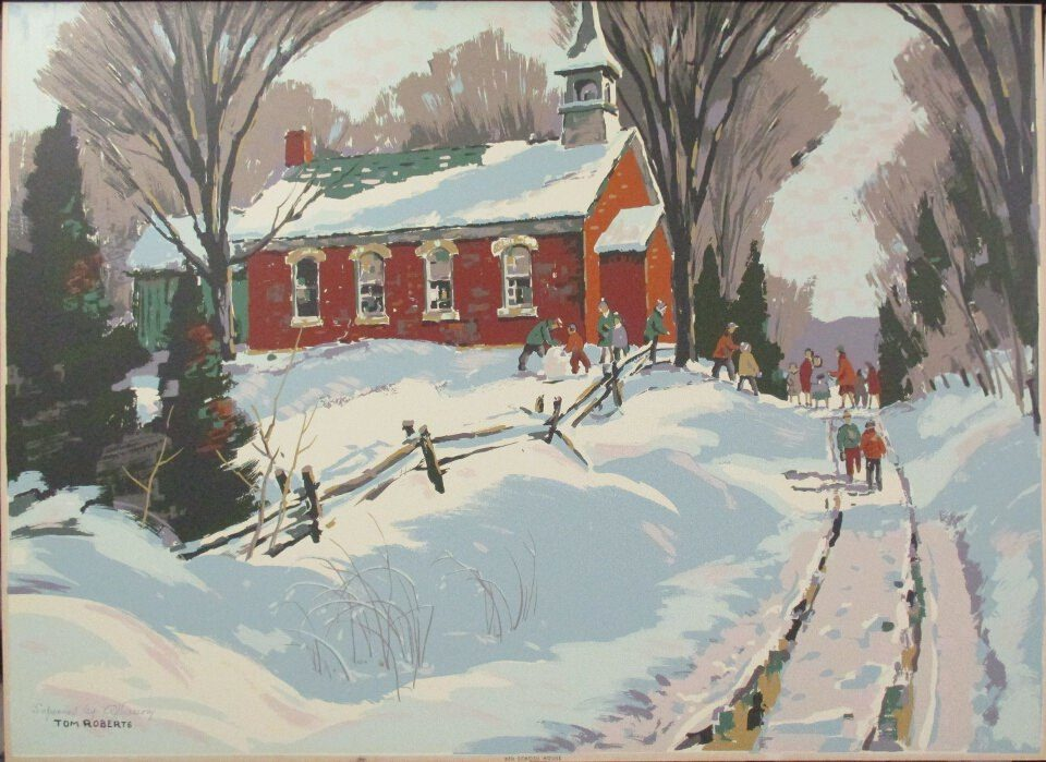 Red School House by Tom Roberts at ArtFINDca