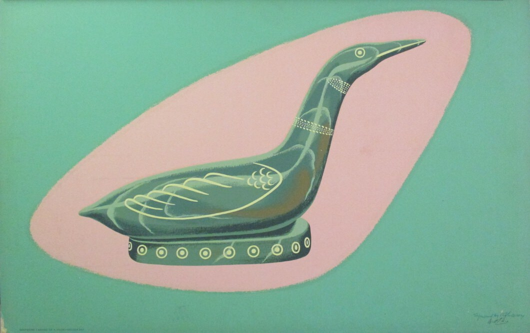 Soapstone Carving of a Loon by Arthur Donald Price at ArtFINDca