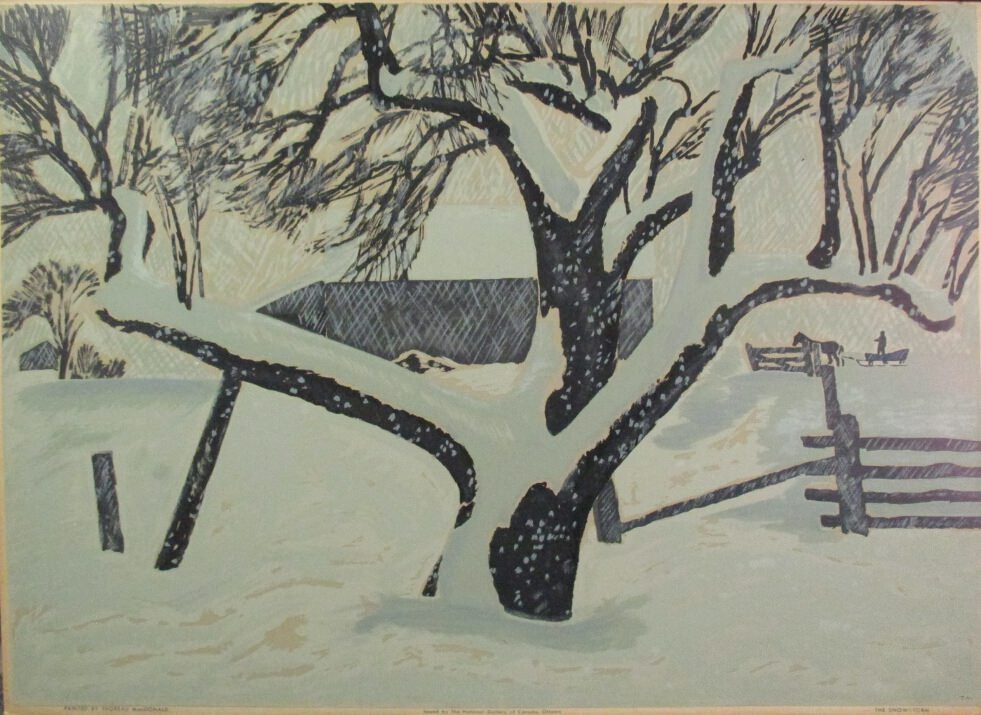 The Snowstorm by Thoreau Macdonald at ArtFINDca