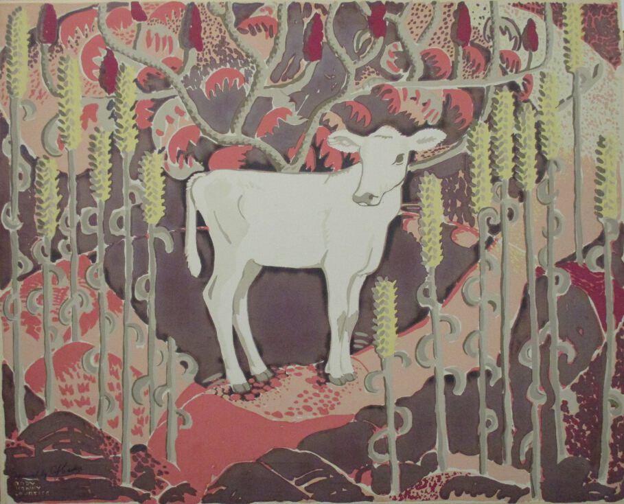 White Calf by Rody Kenny Courtice at ArtFINDca